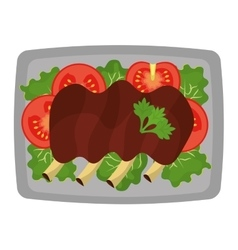 Delicious food and gastronomy graphic isolated vector