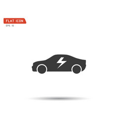 electric icon car logo vector image