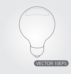 Electric incandescent lamp icon black and white vector