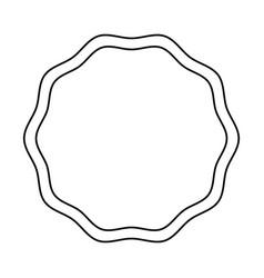 Emblem stamp sticker blank line vector