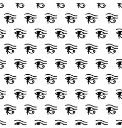 Eye of Horus seamless pattern vector