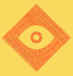 eye sign flat style black vector image
