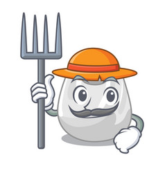 Farmer plastic bag character cartoon vector