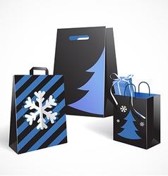 Festive paper bags vector