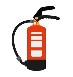 fire extinguisher safety security industrial vector image