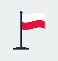 flag of polandflag stand vector image