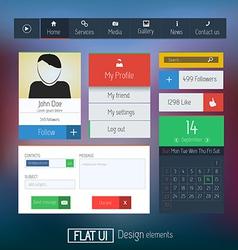 Flat web design elements 6 vector