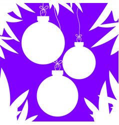 Flat white isolated silhouettes of christmas toys vector