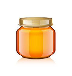 glass jar mock up for honey jam jelly or baby vector image