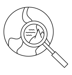 global search icon outline style vector image