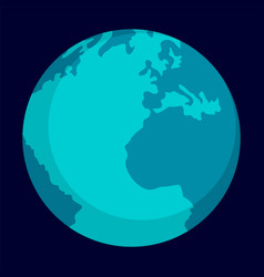 globe earth icon flat style vector image