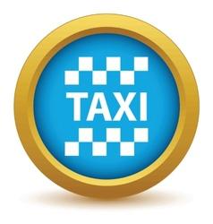 Gold taxi icon vector image