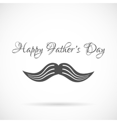 Happy fathers day and mustache background vector