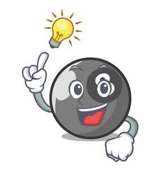 Have an idea billiard ball mascot cartoon vector