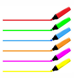 highliter pen collection vector image