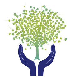 Hope tree hand vector