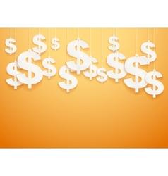 Hung symbols Dollar vector image