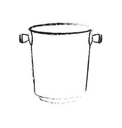 Ice bucket icon image vector