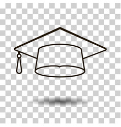 Icons graduation cap vector