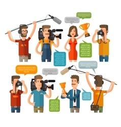 Journalism concept in flat vector