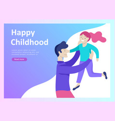Landing page templates for happy fathers day vector