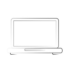 laptop technology device vector image