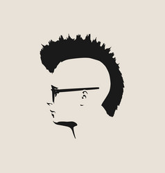 man avatar profile view male face silhouette vector image