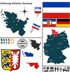 Map of Schleswig Holstein vector