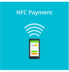 Near field communication icon nfc and vector