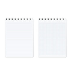 notebook memo notepad templates vector image