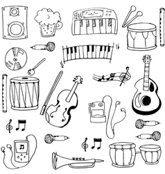 Object music pack doodles vector