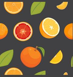 Orange seamless pattern on white background vector