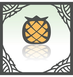 Outline pineapple fruit icon Modern infographic vector