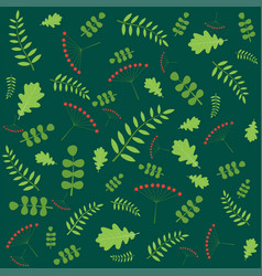 Pattern with autumn leaves of different trees vector