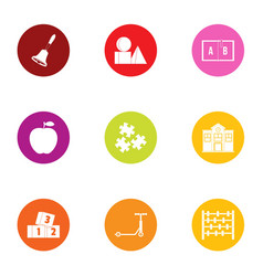 Perfection icons set flat style vector