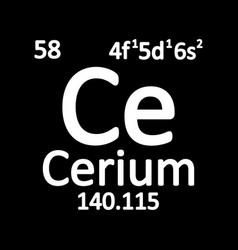 periodic table element cerium icon vector image