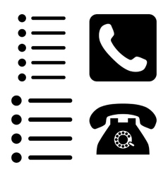 Phone List Flat Icons vector