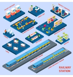 Railway Station Concept vector image