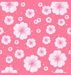 sakura spring flowers in bloom seamless pattern vector image