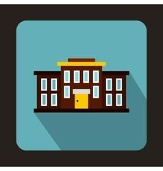 School building icon flat style vector image