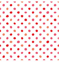 seamless pastel pattern with pink polka dots vector image