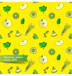 Seamless pattern with slices of fruit and vector image