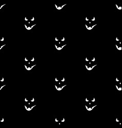 set of scary faces halloween pumpkins vector image