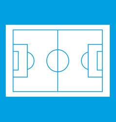 Soccer field icon white vector