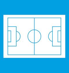 Soccer field icon white vector