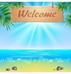 Summerl seaside view poster vector image