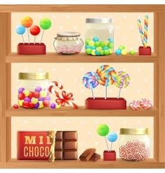 Sweet Store Shelf vector