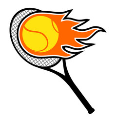 tennis icon play vector image