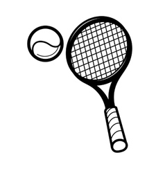 Tennis racket and ballon vector