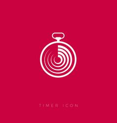 timer icons white stopwatch symbol loader logo vector image